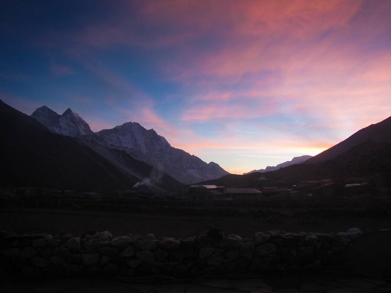 Sunset in Dingboche