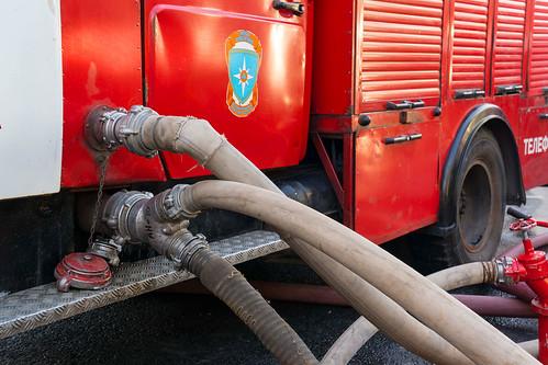 Gelandewagen загорелся возле АЗС на Рублевском шоссе