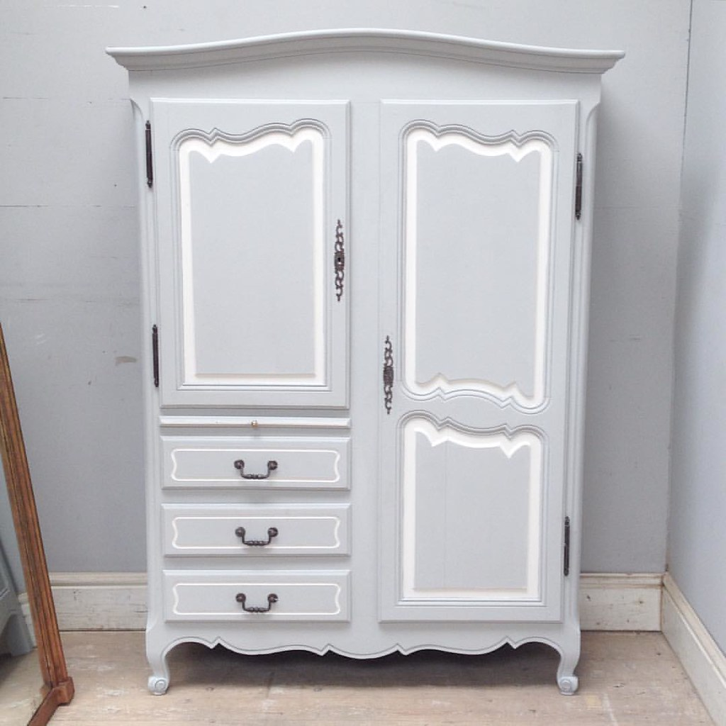 ... Latest Cute Size French Vintage Armoire / Super Small Perfect Fit For  Alcoves, Cottage Rooms