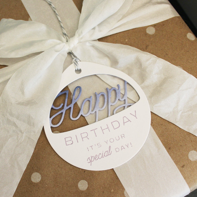 Ombre Birthday Tag