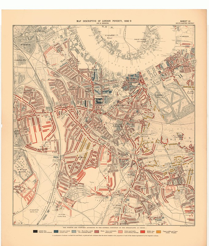 Charles Booth Maps Descriptive of London Poverty