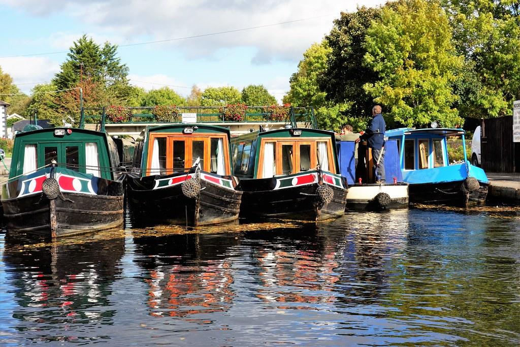 Canal Boats at Pontcysyllte Aqueduct, Wales