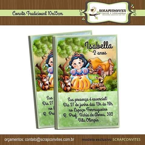 Convite Branca De Neve Festacriativa Festameninas Festa Flickr