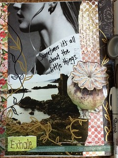 Exhale. Art Journal Collage and Doodle by Kathryn Zbrzezny | by Kathryn Zbrzezny