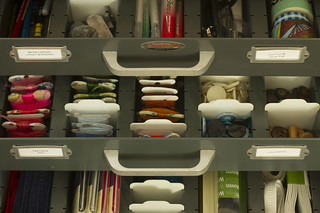 organizing craft supplies | by childerhouse