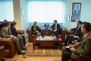 04.10.2016 Ms. Apostolova meets Minister of Public Administration Mr. Mahir Yagcilar (1 of 3) | by European Union Office in Kosovo
