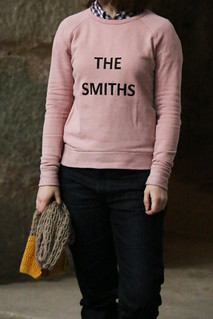 The Smiths Screenprinted Grainline Studio Linden Sweatshirt | by English Girl at Home