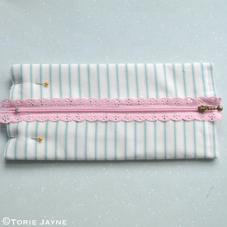 Lace Zip Pretty Pencil Case tutorial 7 | by toriejayne