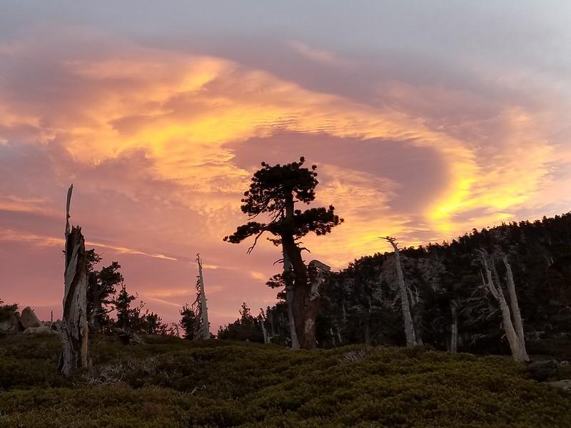 San Bernardino Peak • Sunrise over San Bernardino Peak