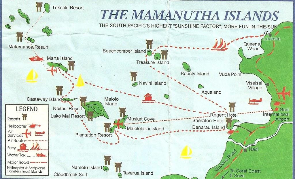 Map Of Mamanutha Islands Fiji A Popular Tourist Des Flickr - Fiji islands map