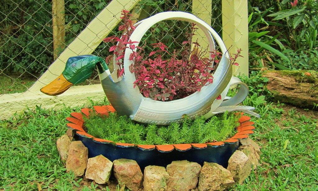 ... Mallard Duck Planter   Recycling Old Tires Made By Me | By Adriana  Cristina Razia