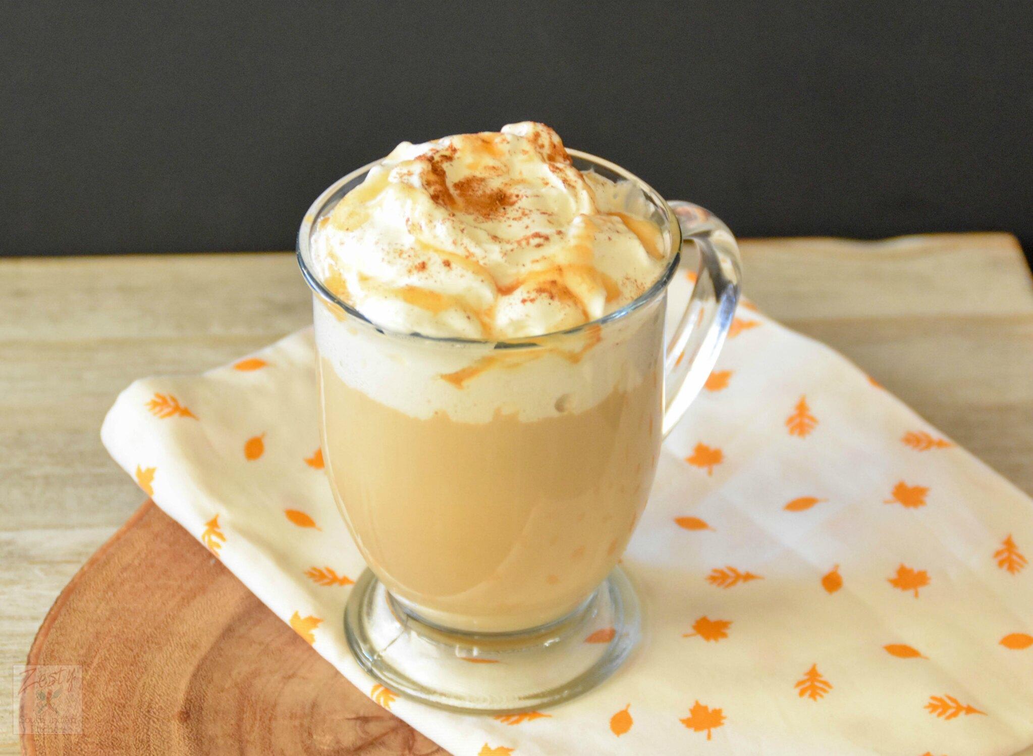 caramel coffee cake pumpkin spice latte zesty south indian kitchen