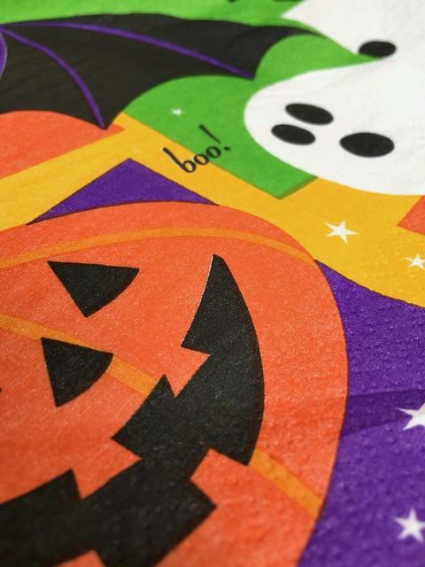 Halloween paper napkin