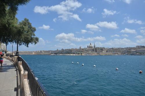 Nach der Überfahrt der Blick zurück auf Valletta