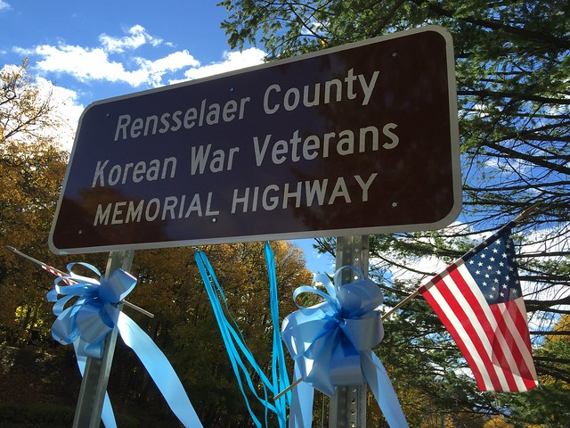 Rensselaer County Korean War Veterans Memorial Highway Marker Re-dedication Ceremony