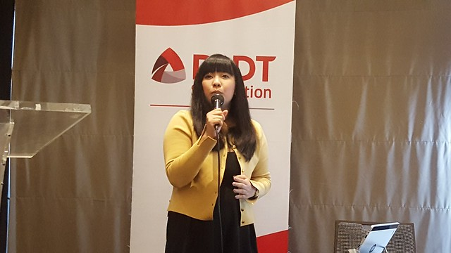 Ms. Abi Echano Product Manager of Vibal Publications | PLDT SME Nation's Smart Digital Campus Launched in Davao City - DavaoLife.com