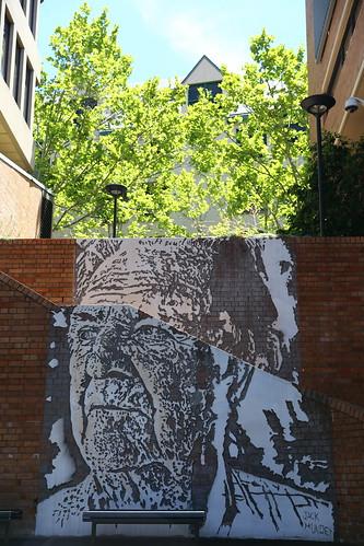 Street Art Mural of Jack Mundey - The Rocks, Sydney, Australia