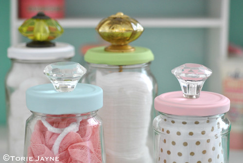 Upcycled Jars with Knobs 4 | by toriejayne