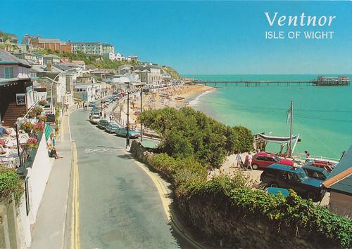 The Esplanade Ventnor Isle Of Wight Old Postcard Late 19