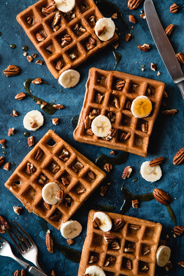 Crispy Banana Bread Waffles | Will Cook For Friends