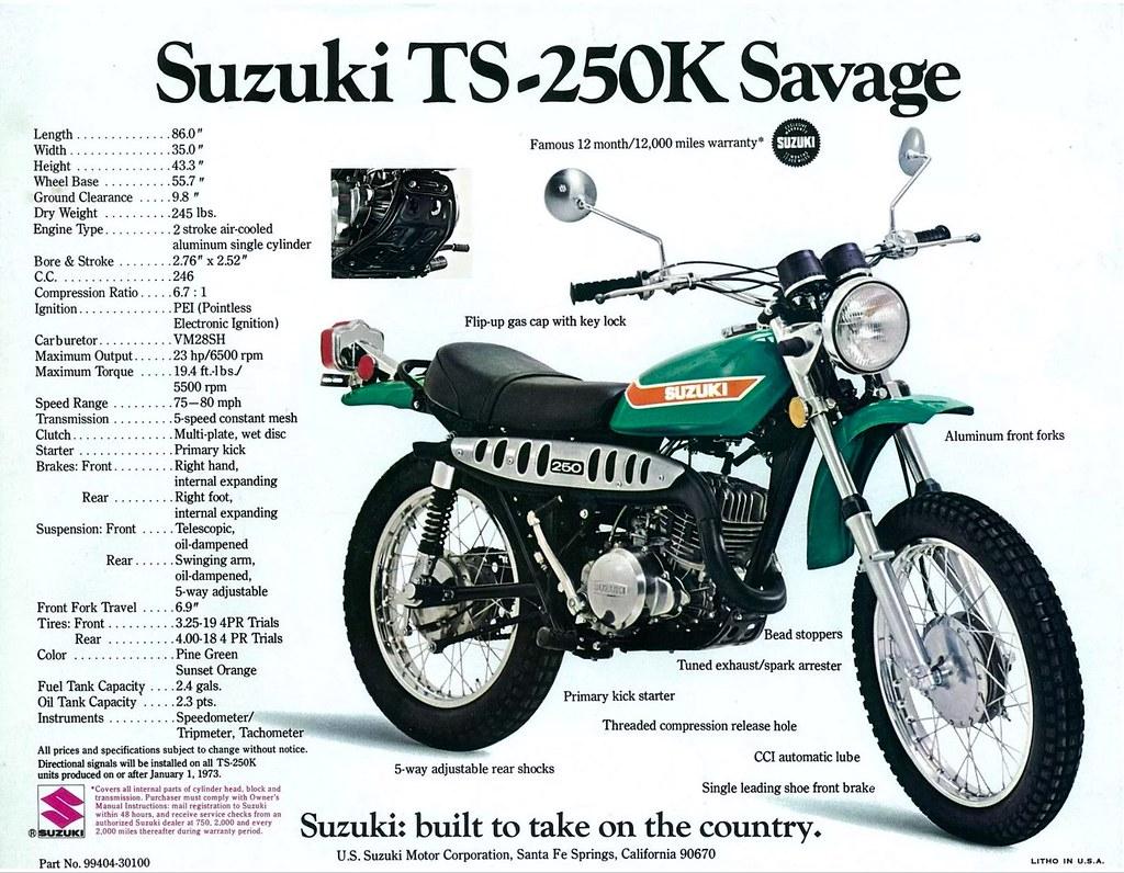 ... 1973 Suzuki TS-250 Savage   by Tony Blazier