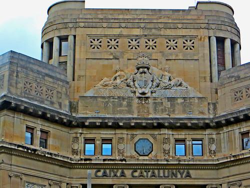 Caixa catalunya bank building in central barcelona spain for Oficina caixa catalunya barcelona