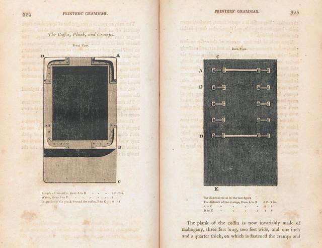 Coffin, Plank, Cramps; Printers' Grammar