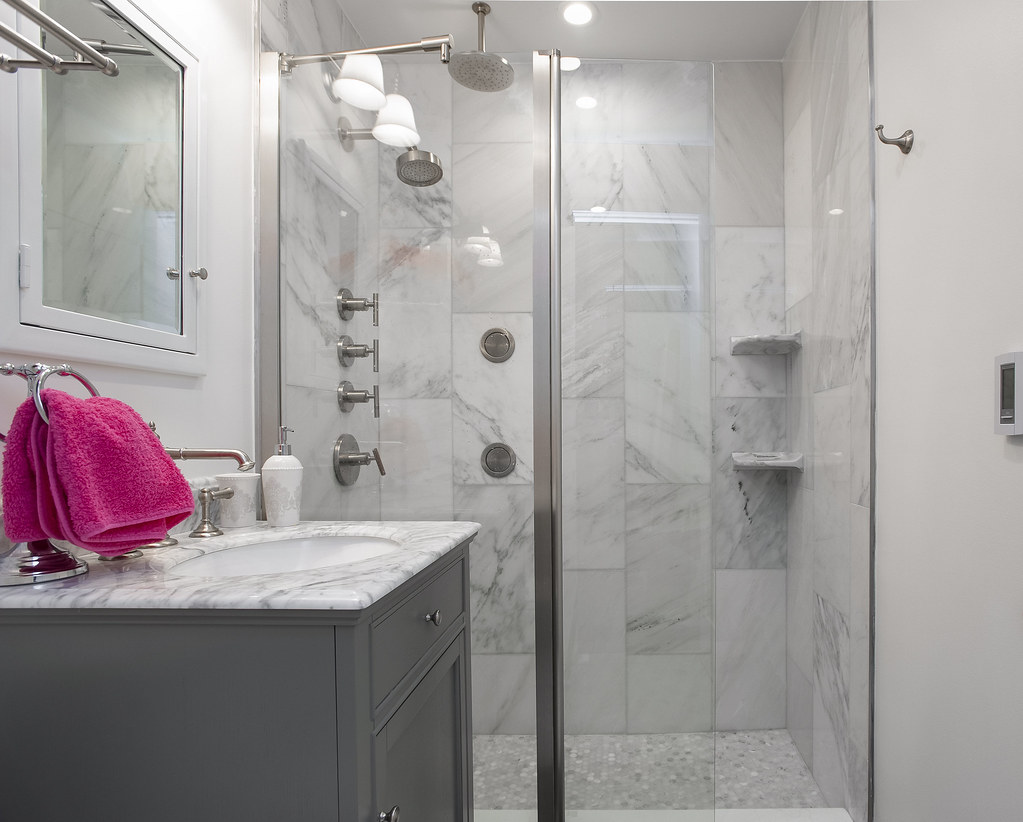 Modern Marble Bathroom | by Paintzen Modern Marble Bathroom | by Paintzen & Modern Marble Bathroom | You are free to: Share \u2014 copy and r\u2026 | Flickr