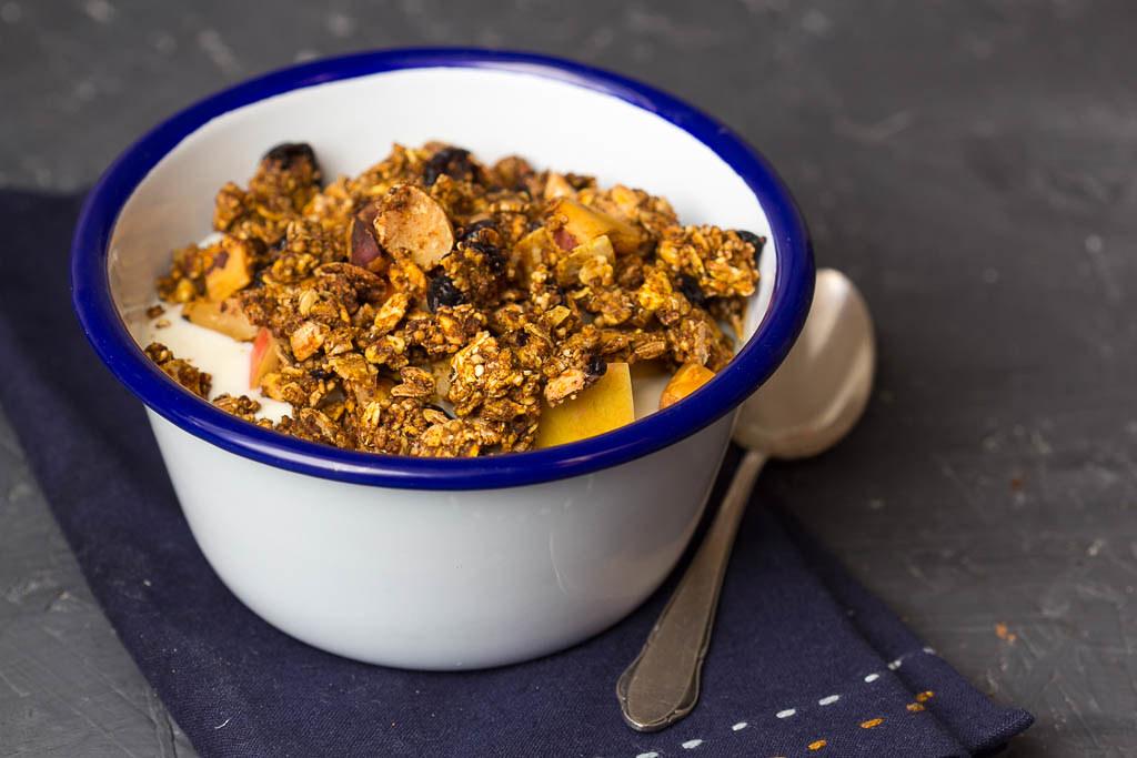 Kürbis Granola via lunchforone