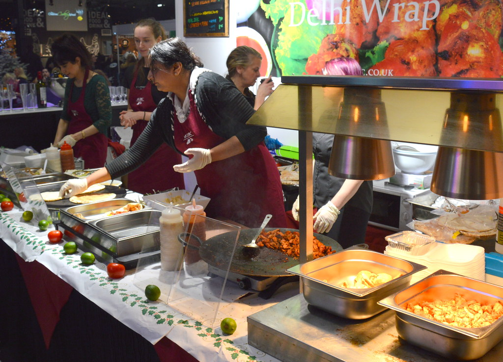 ... Food Stall At The Ideal Home Show At Christmas, Manchester | By Tony  Worrall