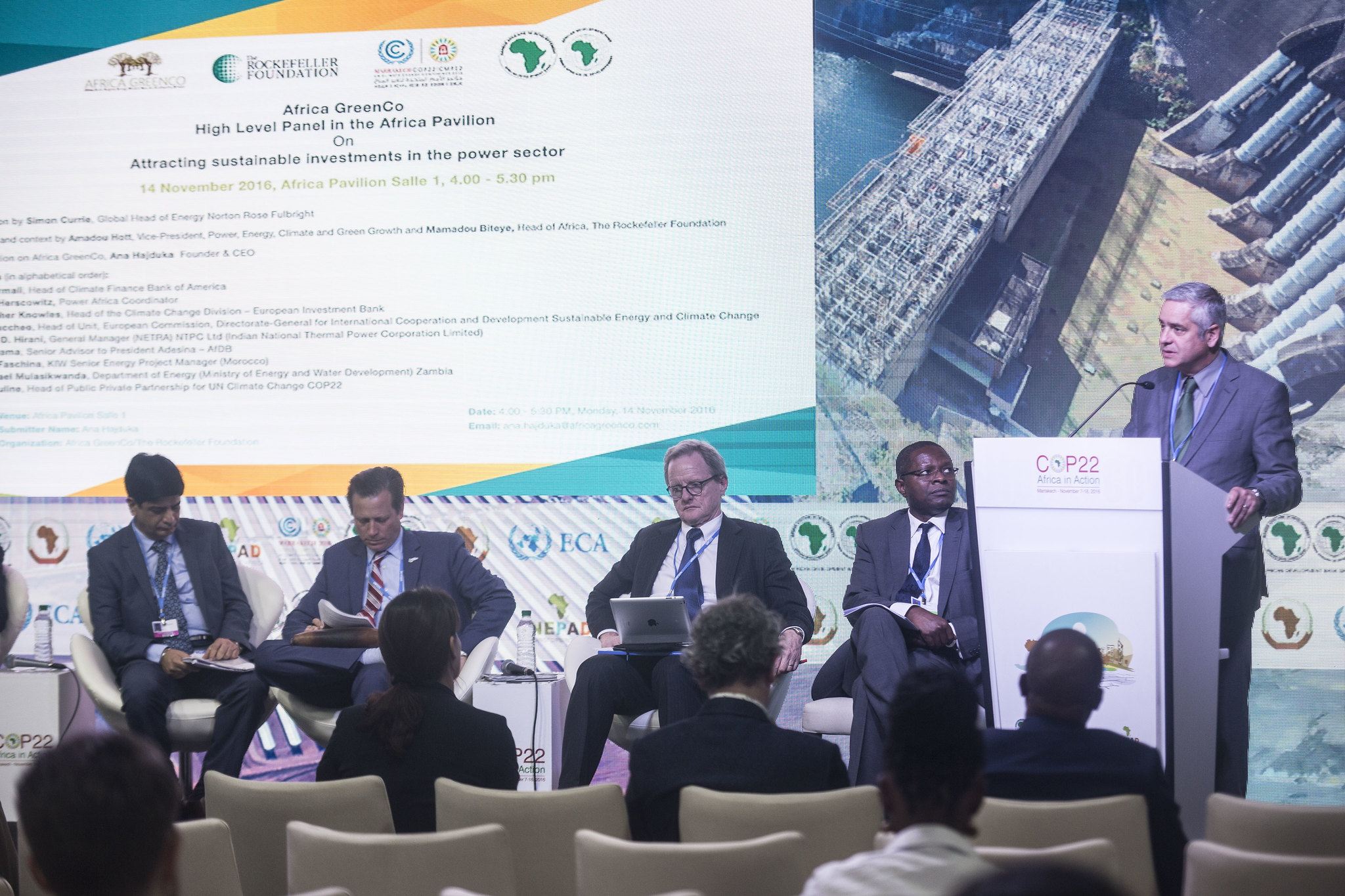 COP22 : Africa GreenCo/AfDB/Rockefeller Foundation: Attracting sustainable investments in the power sector, 14 November 2016
