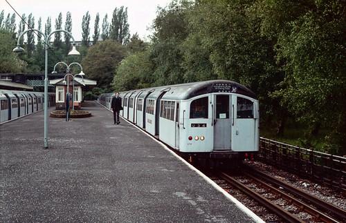 1962 stock set 1749 at High Barnet. May 1985.
