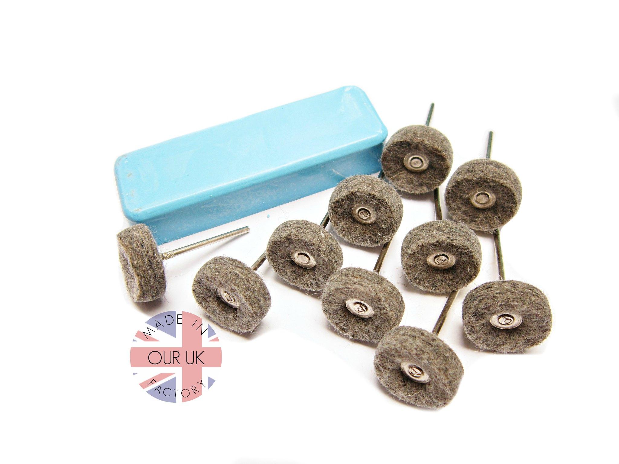 M tal kit de polissage bf feutre roues p te polir for Polissage aluminium miroir