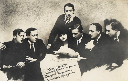 Vera Kholodnaya, Ivan Mozzhukhin and other actors of the Russian silent cinema