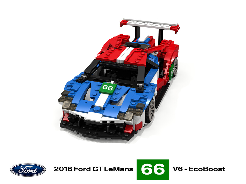 Ford Gt Lemans  By Lego