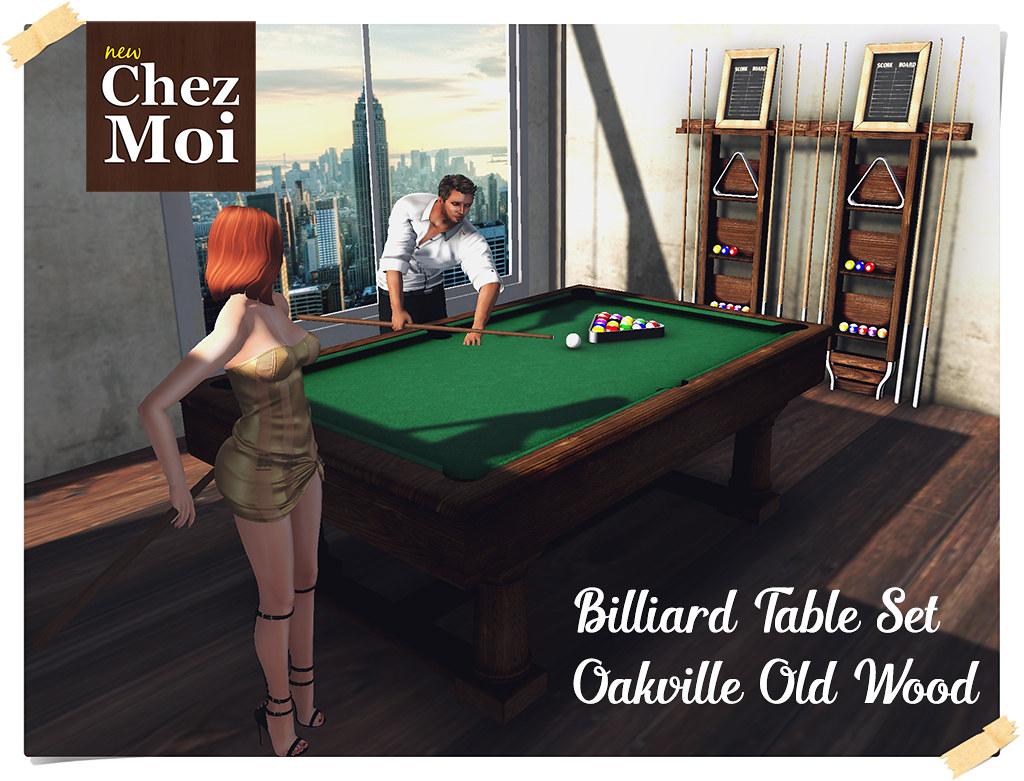 Billiard Old Wood Set CHEZ MOI | Realistic Billiard Table 10… | Flickr