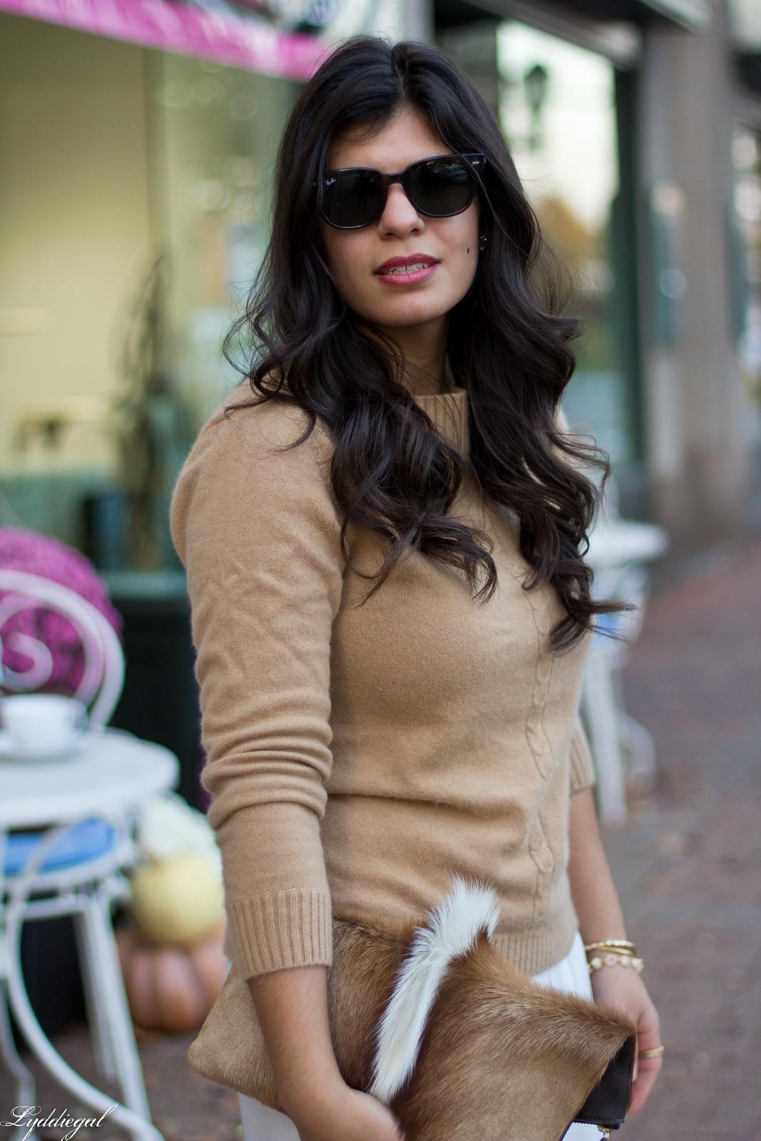 white Culottes, camel sweater, toe cap heels, springbok clutch-5.jpg