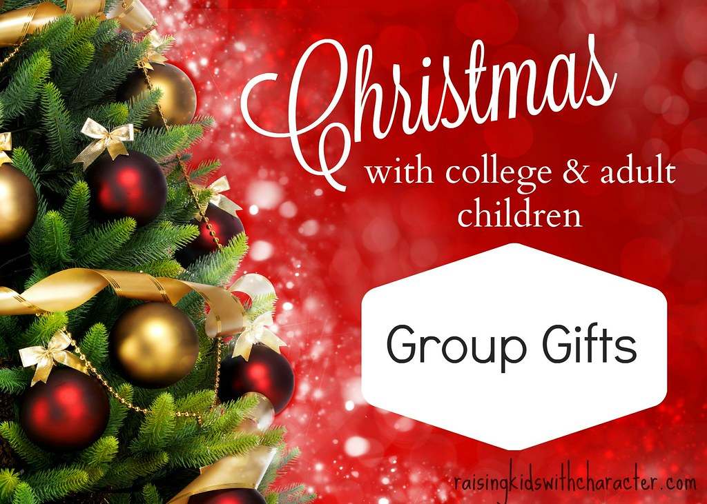 christmas with college and adult kids group gifts by character ink