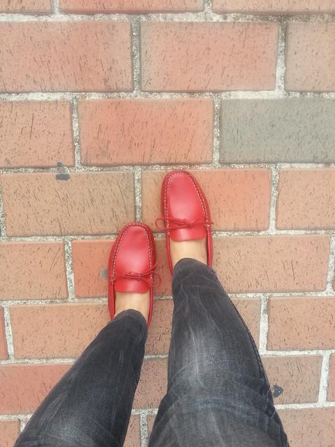 Black Bulky Shoes Elderly Men Wear