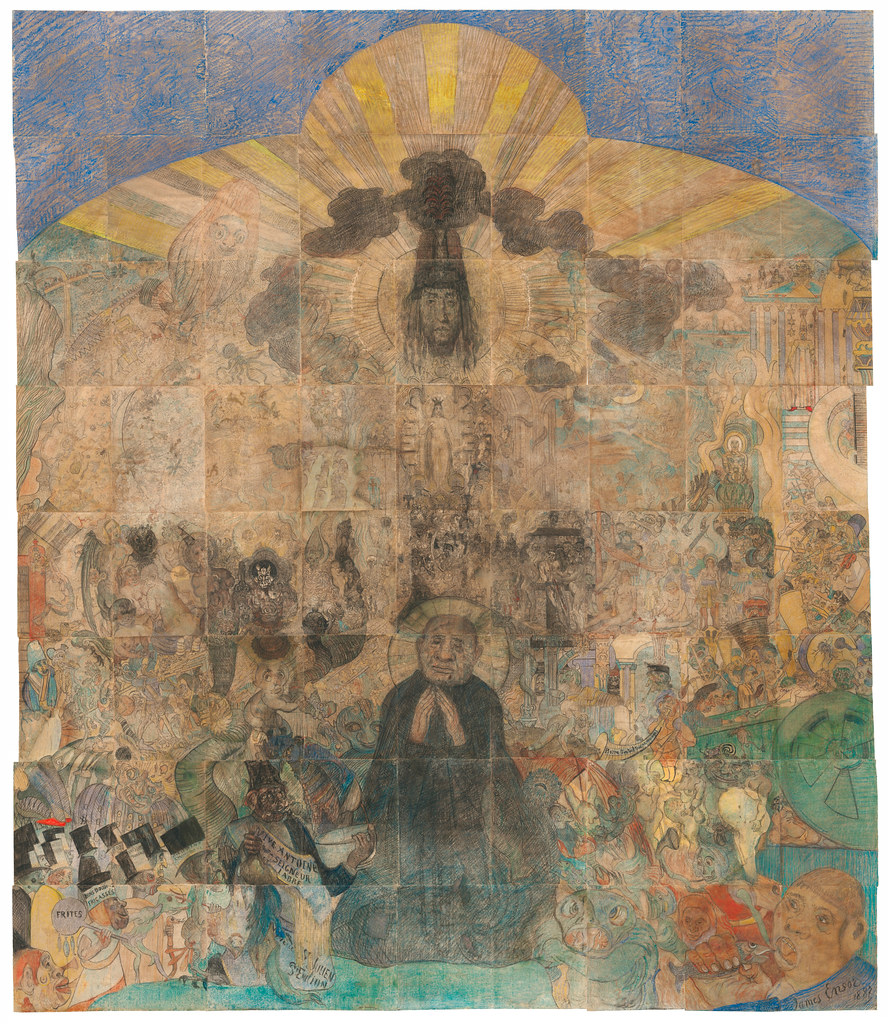 James Ensor - The Temptation of Saint Anthony, 1887