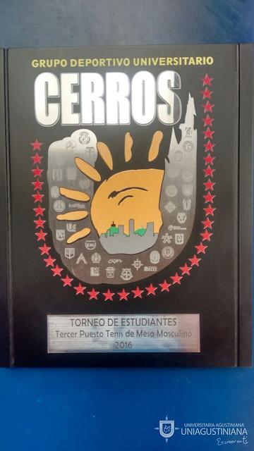 UNIAGUSTINIANA campeón en Taekwondo y Tenis de mesa, Grupo Cerros 2016