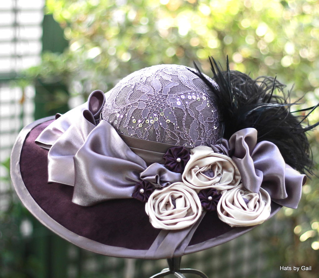 1900\'s Vintage Edwardian Victorian Wide Brim Hat | I made th… | Flickr