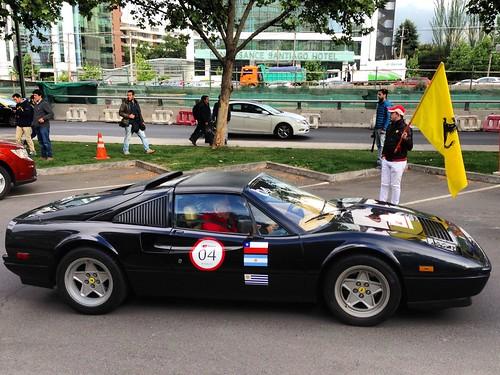 Ferrari 328 GTS   Largada Primer Incontro Ferrari - Santiago, Chile