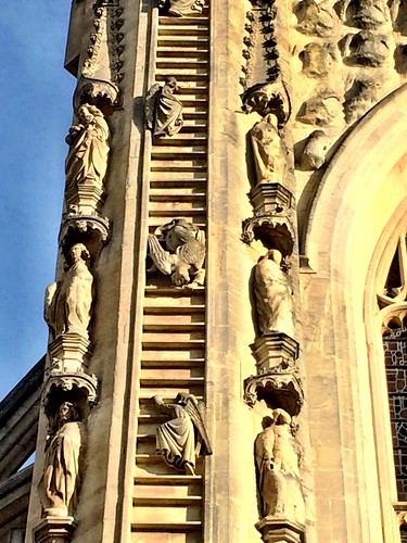 Bath Abbey. Angel climbing down Jacob's Ladder | by TheCreativePenn