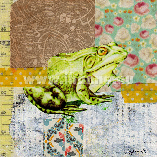Frog Collage: Romance her today - art by iHanna aka Hanna Andersson, Sweden