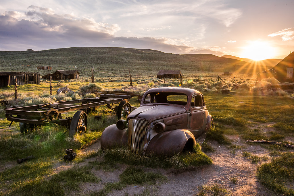 Old Classic Car: Bodie Ghost Town in a Breaking Thundersto… | Flickr