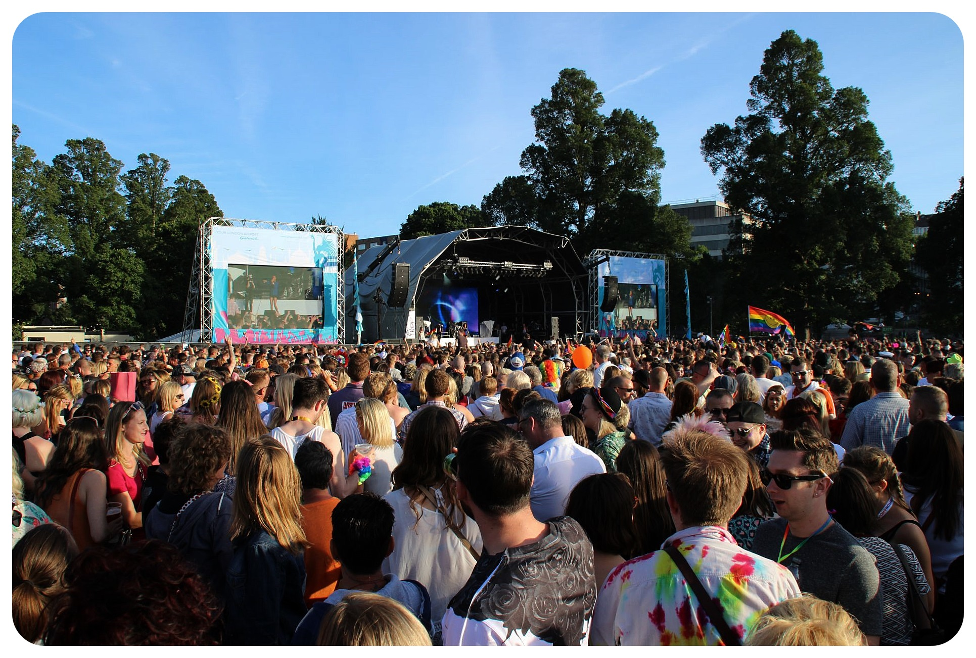 Brighton Pride festival grounds main stage1