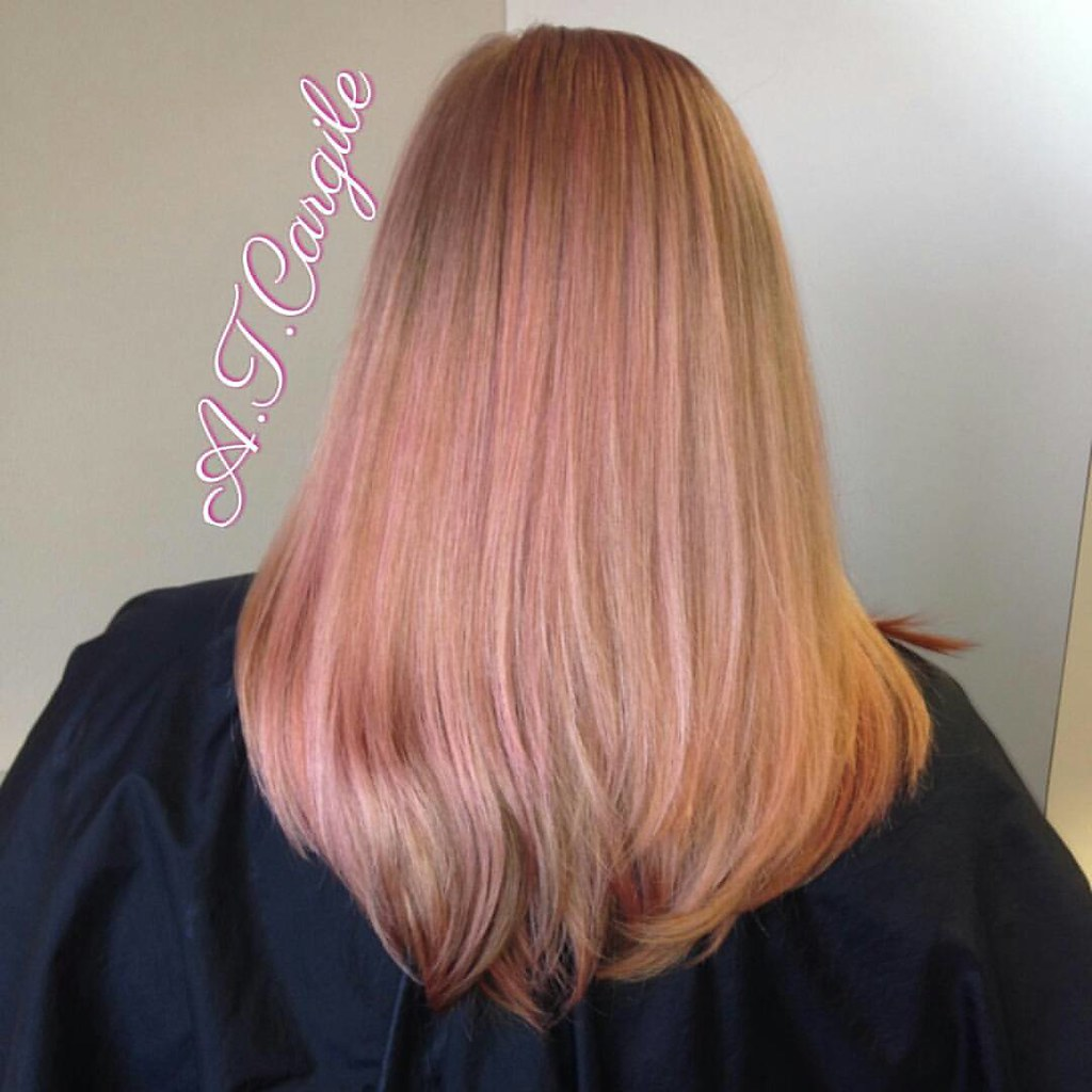 Balayage Toner Blow Dried Straight Rose Gold What Do Flickr