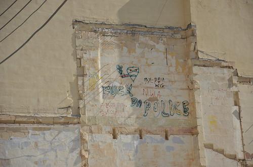 ACAB in Sliema auch hier gibt es schwarzen Block