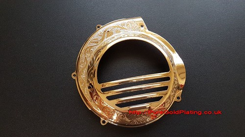 Gold Plated Scooter Flywheel Cover | by PureGoldPlating